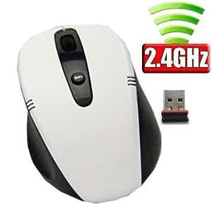 ユニーク ワイヤレス2.4G NANOレシーバーマウス PC連動電源 ホワイト M318GW