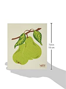 Swedish Treasures Wet-it! Cleaning Cloth, Works Great in Kitchen, Bathroom or Any Room, Reusable & Biodegradable, Bartlett Pear