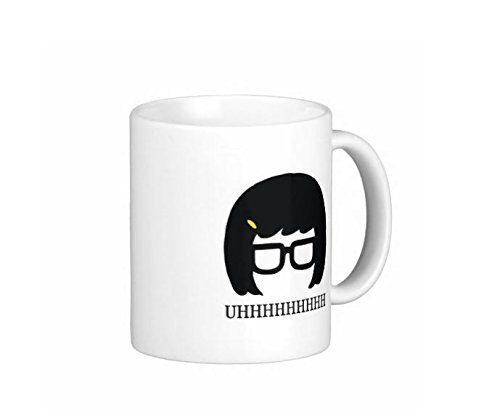 Pair Of Tina Uhhhh 11 Ounce Coffee Mugs - Custom Coffee / Tea Cups - Dishwasher And Microwave Safe