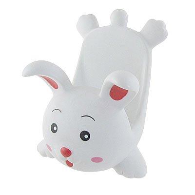 Countertop Mobile Phone White Plastic Rabbit Display Stand Holder