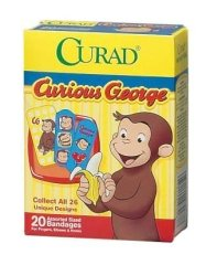 Curious George Kids Adhesive Bandage Case of