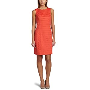 Ellen Tracy Dresses Women's Poplin Shutter Pleat Dress: Clothing from amazon.com