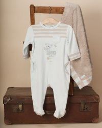 The Essential One - Baby Boy Plush Velour Gift Set GS9