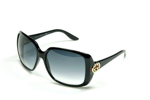 New Original GUCCI Italy Sunglasses GG 3166 GG3166 D28/JJ Black Grey Women