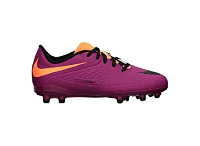 New Nike Girl's JR Hypervenom Phelon FG Soccer Cleats Magenta/Orange 12