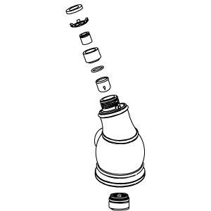 Kohler 1013838-Bn Manufacturer Replacement Part, Brushed Nickel front-627575