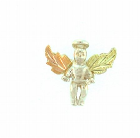 Sterling-silver Black Hills Gold Angel Tie-pin / Lapel-pin