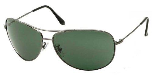 ray ban bubble wrap aviator g0sb  Ray-Ban RB3293 Bubble Wrap Aviator Sunglasses 67 mm, Non-Polarized,  Gunmetal/Grey-Green Review
