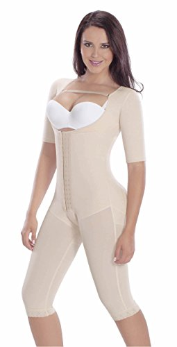 Fajas Colombianas MariaE Post-surgery Post partum Garment with Sleeves Beige L (Post Compression Garment compare prices)