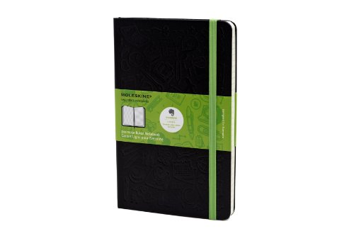 Moleskine Evernote Ruled Smart Notebook, Large, Black, Hard Cover (5.1 X 8.3 Inches)