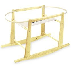 Rocking Moses Basket Stand Natural - 1