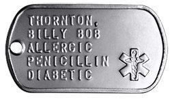 Medical Alert ID Tag