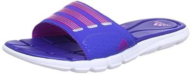 adidas adipure 360 Slide W Q22606, Damen Sandalen, Blau (Cobalt / Running White Ftw / Vivid Pink S13), EU 37 (UK 4)
