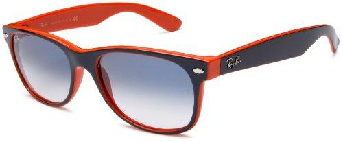 Ray-Ban RB2132 New Wayfarer  Sunglasses, Top Blue Orange Frame/Blue Gradient Lens, 55 mm