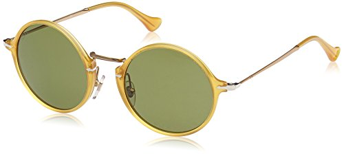 Persol PO3091SM Sunglass-204/P1 Yellow (Polarized Green Lens)-49mm