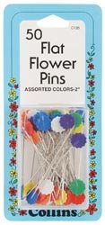 Dritz Colored Flat Flower Pins 2
