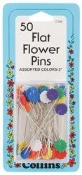 Dritz Colored Flat Flower Pins 2