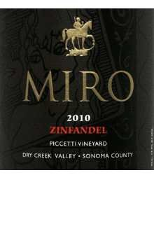 2010 Miro Zinfandel Dry Creek Valley Piccetti Vineyard 750Ml