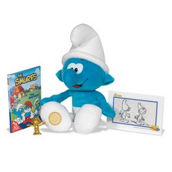 Picture of Jakks Pacific Smurfs 50th Anniversary Plush with Sound and Collector Figure (B0017LTR2S) (Jakks Pacific Action Figures)