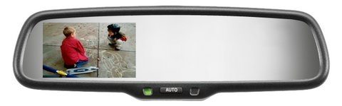 Camlock Adapter With Gentex Genk335S High Definition Rear Camera Display Mirror With Compass And 6' Harness