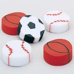 Eraser - Sport Ball 1/2 Inch