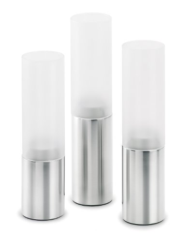 Blomus 3-Piece Tealight Holder Set, Cylinder
