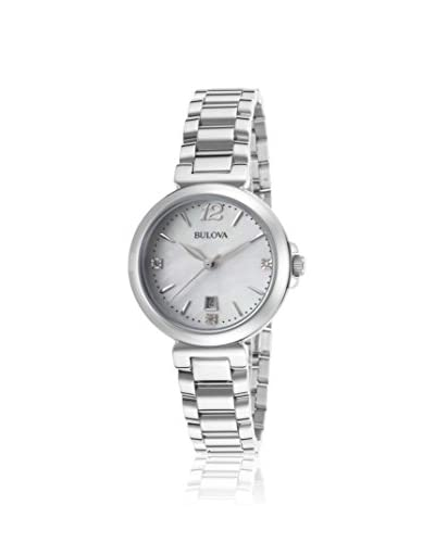 Bulova Women's BUL-96P149 Diamond Gallery Mother Of Pearl Stainless Steel Watch