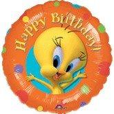 "Single Source Party Supplies - 18"" Tweety Bird Birthday Mylar Foil Balloon"