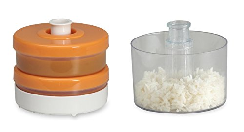Baby Food Containers Bundle including Baby Brezza Grain Basket and Duo Storage System in Orange (Infant Steamer And Blender compare prices)