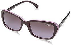 Vogue Gradient Rectangular Sunglasses (0VO2964SB23218HSmall) (Eggplant Violet and Opal Pink)