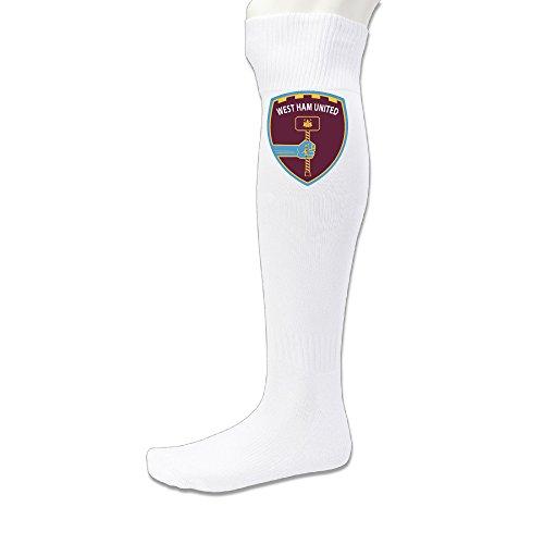 EWIED Men's&Women's West Ham United Football Club Volleyball SockWhite (1 Pair)