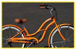 Anti-Rust aluminum frame, Fito Brisa Alloy 7-speed - Orange, women's 26