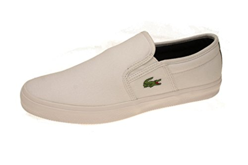 LACOSTE Gazon Sport slip on TESSUTO WHITE DARK BLU 42