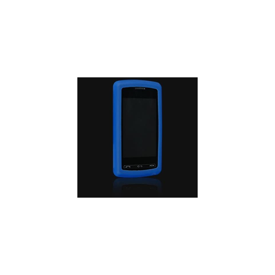 LG Vu / CU920 / CU915 PREMIUM DARK BLUE SILICONE SKIN CASE COVER