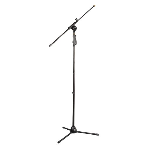 Pylepro Pmks38 Universal Tripod Microphone Stand With Easy Grip, Push Height, Adjustable And Extendable
