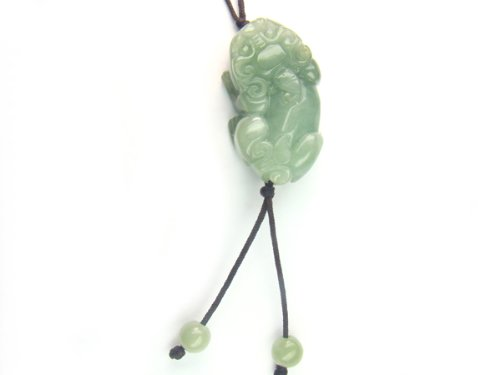 Chinese Jade Pi Yao 35x30mm String Necklace