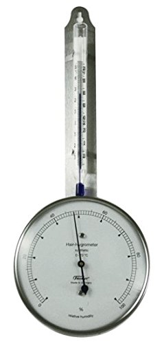 Ambient Weather Fischer 125-01 Instruments Laboratory Grade Indoor/Outdoor Thermometer with Synthetic Hair Hygrometer - 1