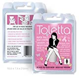 Toletta Paper Toilet Seat Cover Travel Pack (Pink)