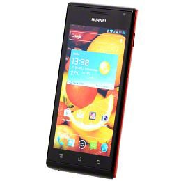 Huawei Ascend P1 Smartphone (10,9 cm (4,3 Zoll) Touchscreen, 8-Megapixel-Kamera, Android 4.0.3 ) rot