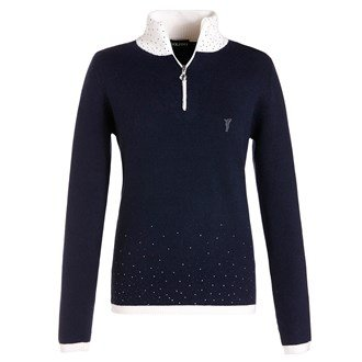 golfino-ladies-knitted-troyer-with-crystals-ladies-navy-14-ladies-navy-14