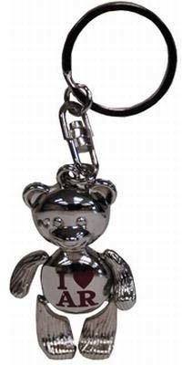 Arkansas Metal Teddy Bear Keychain Case Pack