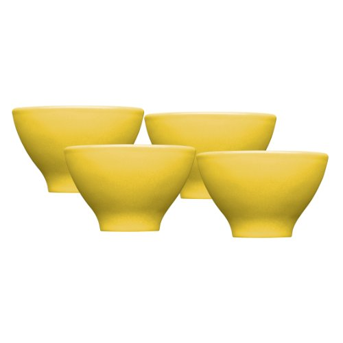 Emile Henry Japanese Cups, Set of 4, Citron