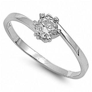 Ashlea's Round CZ Heart Shape Prong Promise Ring - 6