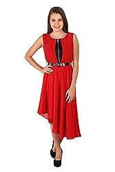 Vteens Red Asymmetrical Dress (med)