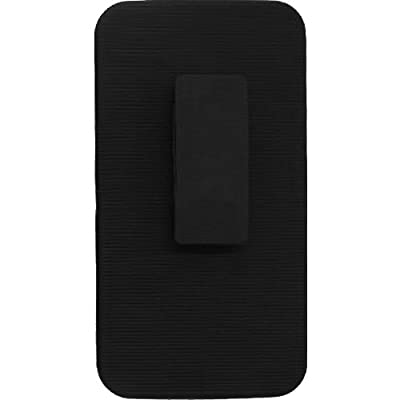 HRWIRELESS(TM) For ZTE Max N9520 Max + N9521 Cover Case (Sidestand Holster Black/Black) ARMOR HEAVY DUTY HYBRID PREMIUM QUALITY COVER by HRWireless