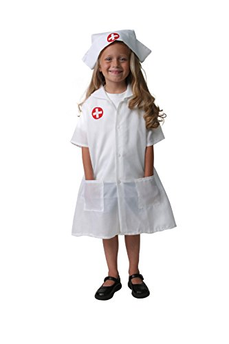 Girls White Nurse Dress-Up Set, Size 6/8