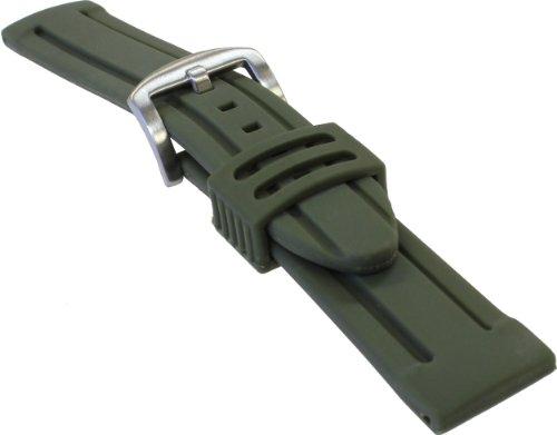 [バンビ]BAMBI 時計バンド シリコンラバー アーミー 20mm BG007Q-S