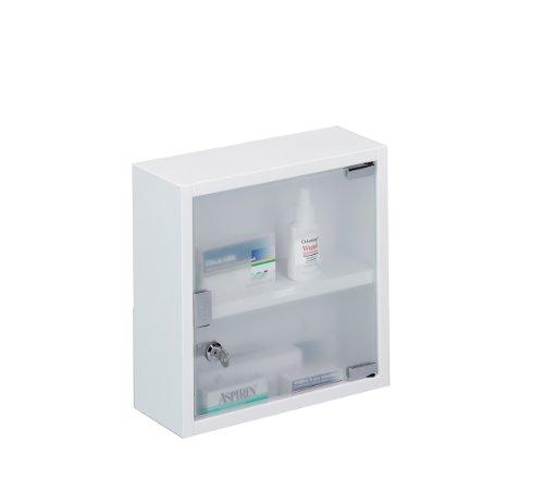 zeller-18121-armadietto-pronto-soccorso-di-metallo-30x12x30-cm-colore-bianco