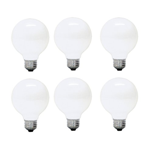 Ge Lighting Soft White 12982 25-Watt, 180-Lumen G25 Light Bulb With Medium Base, 6-Pack