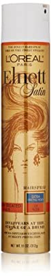 L'Oreal Paris Elnett Satin Hairspray Extra Strong Hold with UV filter for Color-Treated Hair